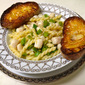 Gemelli with Spicy Scallops and Snap Peas