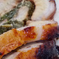 Marinated Pork Loin Stuffed w/ Mixed Baby Greens!