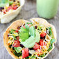 Taco Salad with Homemade Tortilla Bowls