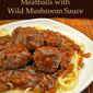 Meatballs with Wild Mushroom Sauce