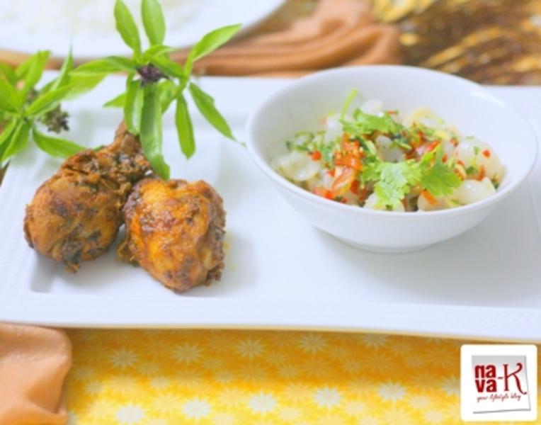 Basil Tandoori Chicken With Longan Salsa