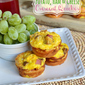 Potato, Ham and Cheese Crescent Mini Quiches