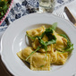 Pumpkin Stuffed Ravioli with Sage Butter & Pine Nuts