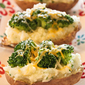 Twice Baked Potatoes with Broccoli and Cheese