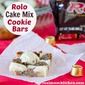 Rolo Cake Mix Cookie Bars