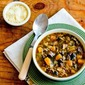 Ground Turkey Soup Recipe with Rice, Kale, Mushrooms, and Butternut Squash