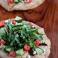 10-Minute Hummus & Greek Salad Naan (Flatbread) Recipe