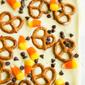 Candy Corn and Pretzel Chocolate Bark