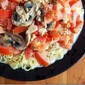 Spaghetti with Mushroom Herb Clam Sauce