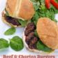 Beef & Chorizo Burgers w/ Chipotle Sour Cream Sauce