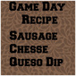 Sausage Cheese Queso Dip