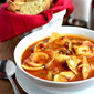 15 Minute Tomato Basil Soup with Cheese Tortellini