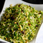 Shredded Brussels Sprouts Recipe with Pistachios, Cranberries & Parmesan
