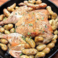 Flat-Roasted Chicken with Tiny Potatoes