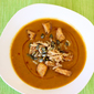 Quick Weeknight Dinner: Spicy Pumpkin Soup with Croutons and Crispy Fried Onions