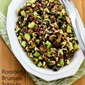 Recipe for Roasted Brussels Sprouts with Avocados and Pecans