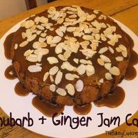 Rhubarb & Ginger Jam Cake