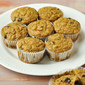 Whole Grain Banana Chocolate Chip Muffins