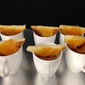 Tomato Soup Shooter with Cheese Toasts