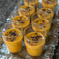 "A Very Blueberry Thanksgiving: Pumpkin soup with dried blueberry ""dust"""