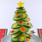 Cucumber Christmas tree – vegan snack for kids