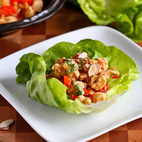 Almond & Basil Chicken Lettuce Wraps Recipe
