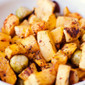 Roasted Butternut Squash, Brussel Sprouts and Pine Nuts