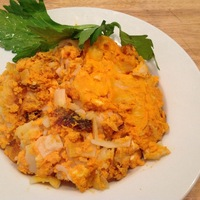 Sweet Potato Bourbon Noodle Kugel
