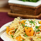 Roasted Butternut Squash Pasta with Ricotta and Toasted Walnuts