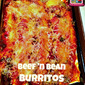 Beef 'n Bean Burritos