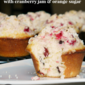 Cranberry Muffins with Cranberry Jam & Orange Sugar #PAMSmartTips #Giveaway