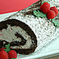 12 Cakes of December- Chocolate Roll with Candy Cane Whipped Cream