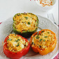Stuffed bell peppers with rice filling