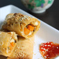 Baked vegetable spring rolls recipe | crusty oven baked vegetable spring rolls