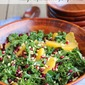Kale Salad with Pomegranate, Orange and Pine Nuts