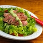 Recipe for steak salad with Green Goddess dressing