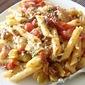 BLT Penne Pasta (Bacon, Leek, Tomato)