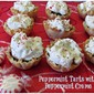 Easy Holiday Dessert Recipes- Chocolate Tarts with Peppermint Creme