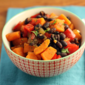 Slow cooker vegan black bean and sweet potato stew recipe