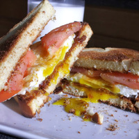 Bacon, Egg, and Tomato Sandwich