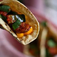 Acorn Squash and Chorizo Seco Tacos {12 Weeks of Winter Squash}