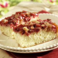 Rhubarb-Ginger Upside-Down Cake