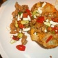 Cheese-and-Sausage Baked Potato