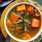 Homemade Turkey Sweet Potato Green Bean Soup