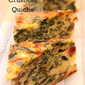 Swiss chard crustless quiche