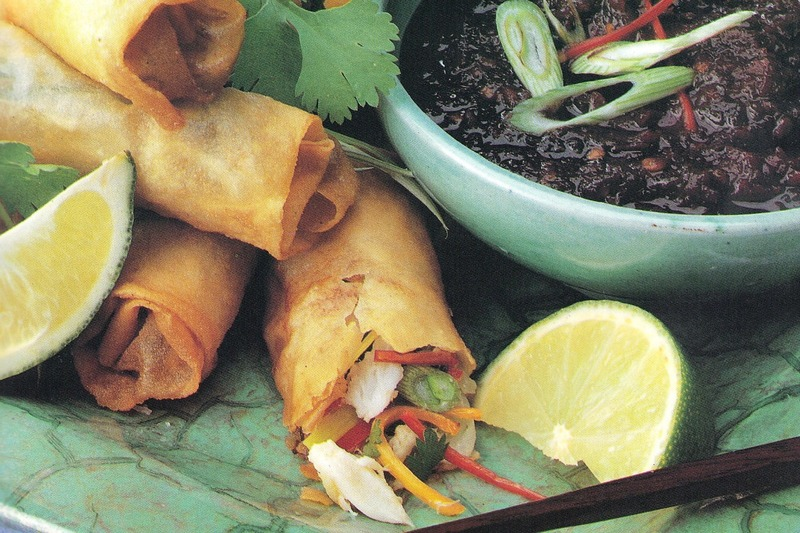 Crab Spring Rolls with Soy Dipping Sauce