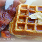 Cornmeal and Ricotta Waffles with Candied Bacon