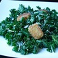 Wilted Kale Salad with Brie Croutons