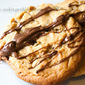 Peanut Butter, Toffee, and Nutella Cookies