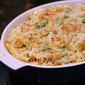 Baked Three-Cheese Penne with Chicken and Peas